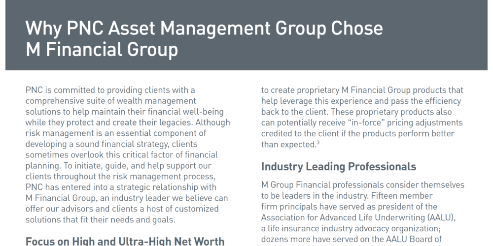 Why PNC Asset Management Group Chose M Financial Group